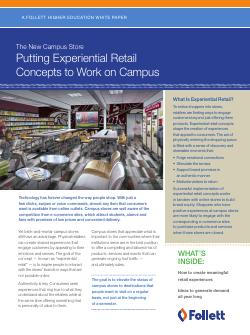 The New Campus Store - Putting Experiential Retail Concepts To Work On Campus